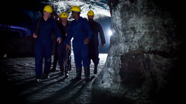 Miners working at a mine video