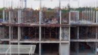Miniature construction site, tilt shift effect video