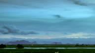 Minimalistic Dusk Cloud Drift over Flat Pasture Wetland Time-lapse video