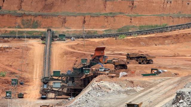 Mining dump trucks real time video