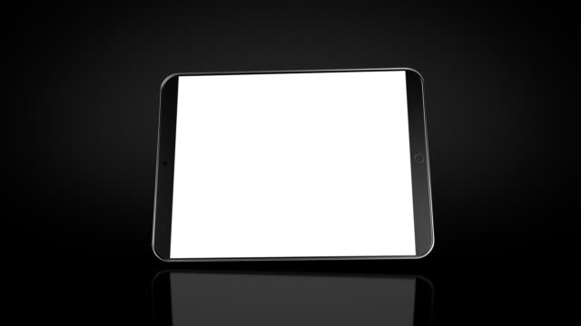 Mini-Tablet Animation. Black background. Luma matte. video