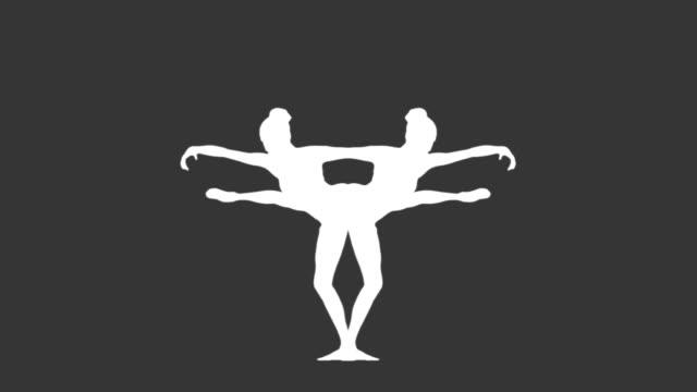 Mirror image of ballerina dancing video