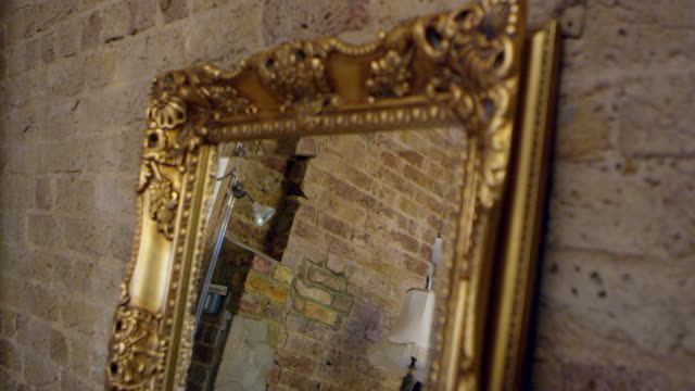 Mirror On Dressing Table In Bedroom Of Apartment Shot On R3D video