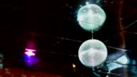 mirrored discoball disco ball light flashes video