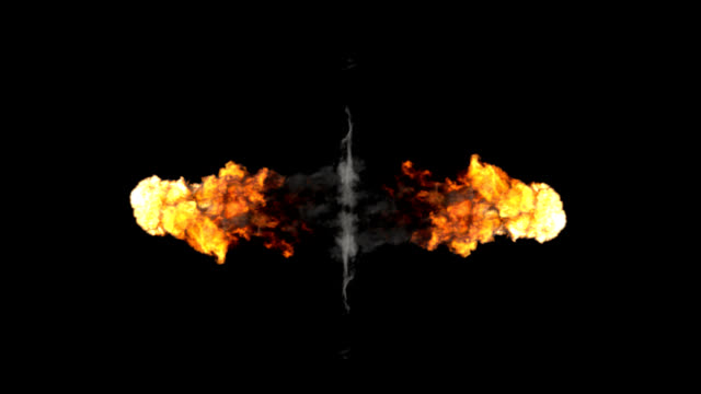 Mirrored explosions video
