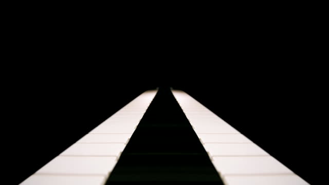 Mirrored piano keyboard video