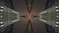 Mirrored symmetric time lapse through a city video
