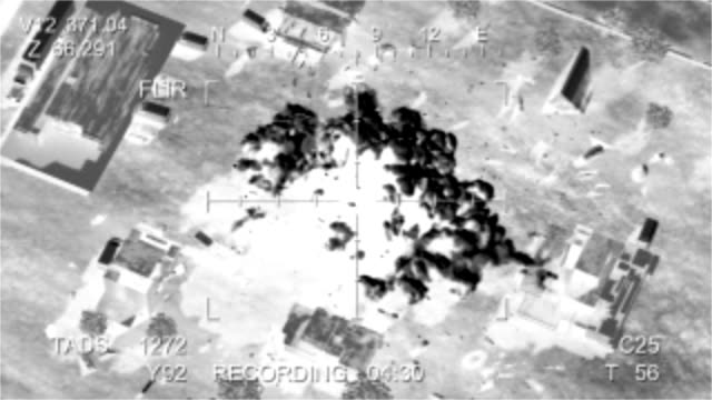 Missile hits the terrorist base video