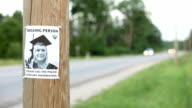 Missing person poster video