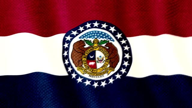 Missouri flag waving animation video