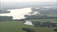 Missouri flooding - Aerial View - South Dakota, Yankton County, United States video