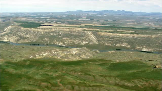 Missouri River  - Aerial View - Montana, Fergus County, United States video