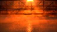 Mist & Fog on lake. HD. video