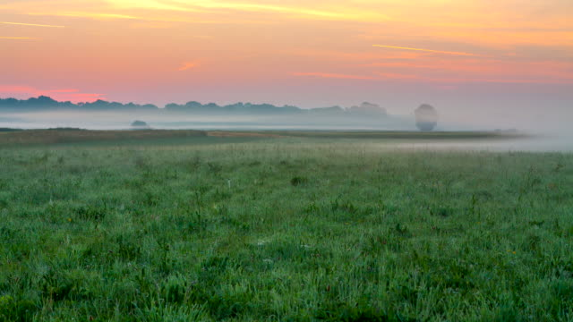 T/L Mist Over A Meadow In The Sunrise video