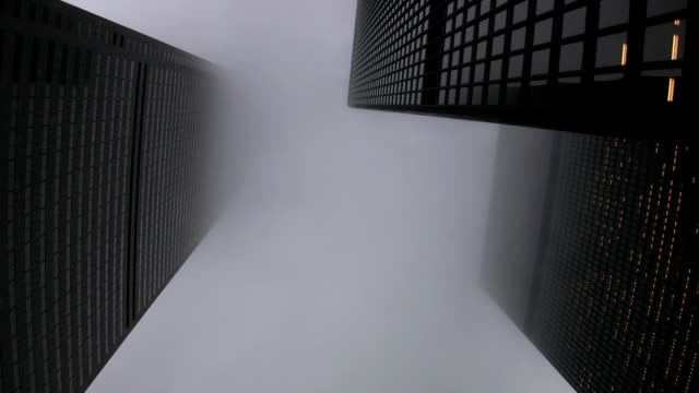 Misty skyscrapers. video