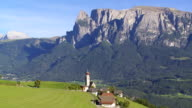 Mittelberg in Front of Mt. Schlern (South Tyrol) PAN video