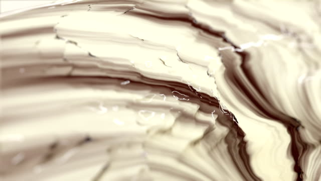 Mix of liquid Chocolate and Milk - Seamless Loop. video