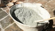 Mixed Cement for building construction video