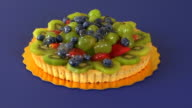 Mixed Fruit Tart Rotating HD video