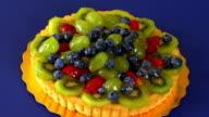 MIxed Fruit Tart Zoom In HD video
