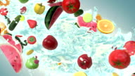 Mixed fruit (Slow Motion) video