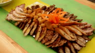 Mixed grilled meat video