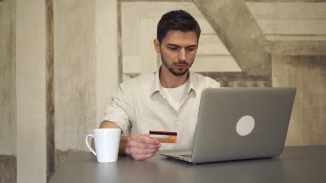 Mixed race businessman online banking video