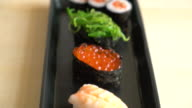 mixed sushi set - japanese food video