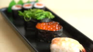 mixed sushi set video