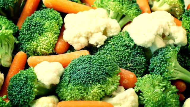 Mixed Vegetables Rotating Closeup video