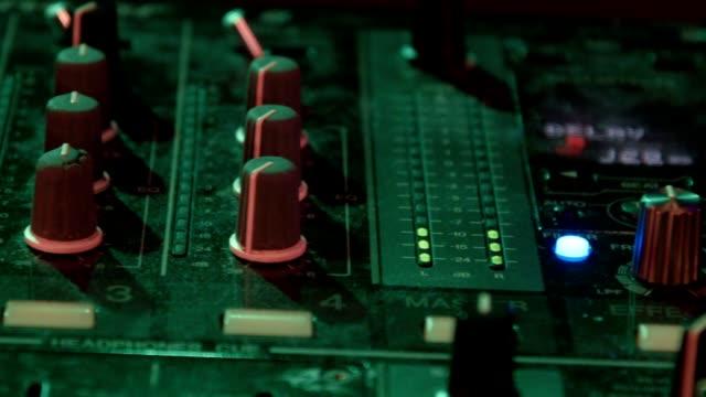 DJ mixer at night club video