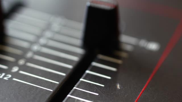 Mixer audio level stop motion video