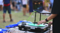 DJ Mixes and Scratches in concert video