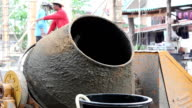 Mixing cement. video