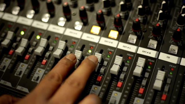 mixing console video