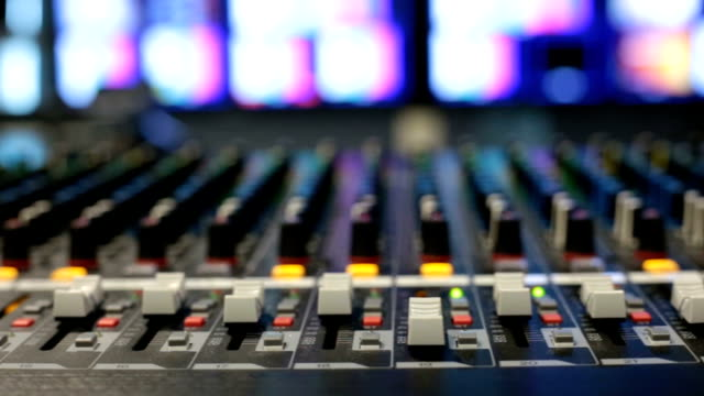 Mixing console. video