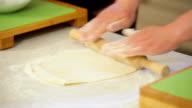 Mixing dough hd video