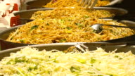 Mixing exotic thai food video