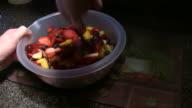 Mixing Fruit Salad video