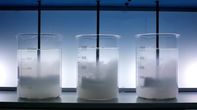 Mixing liquid with laboratory stirrer. video