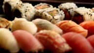 Mixture of Sushi plate video