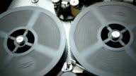 16 mm Film is Rotated in a Movie Camera video