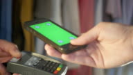 Mobile Contactless Payment. Female Hand. video