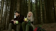 Mobile phone addict in nature video