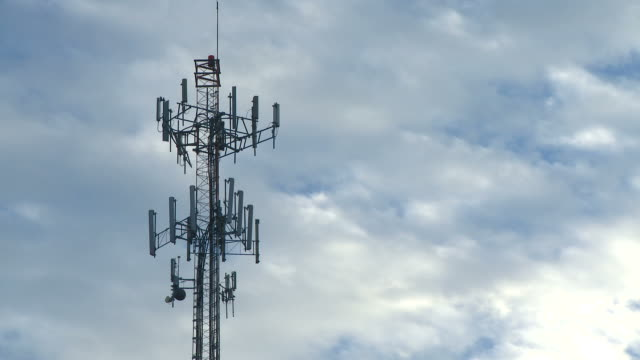 Mobile phone cell tower time lapse video