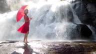 Model In Red Dress video