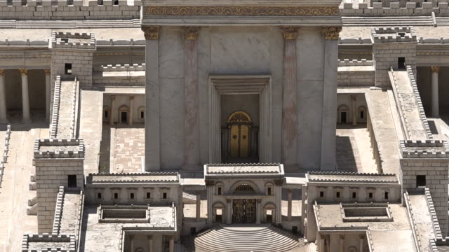 Model of The Second Temple at the Israel Museum, Jerusalem. video