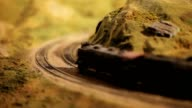 Model Train Rounding a Curve video