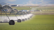 HD modern agriculture irrigation system video