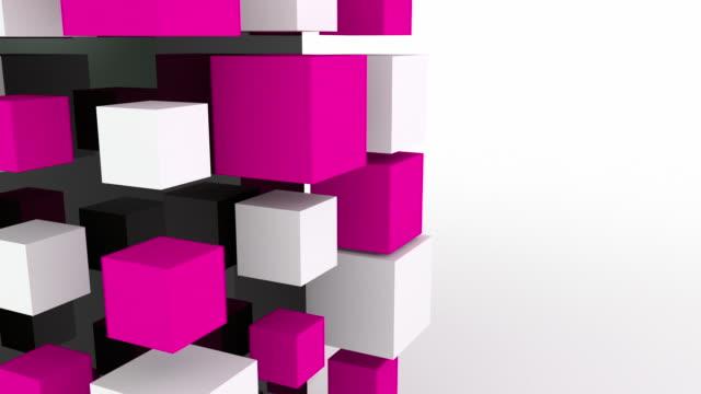 Modern Animated Blocks Loop - Pink video